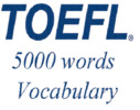 Thumbnail TOEFL Audio Vocabulary in Use: English - German. 5000 words